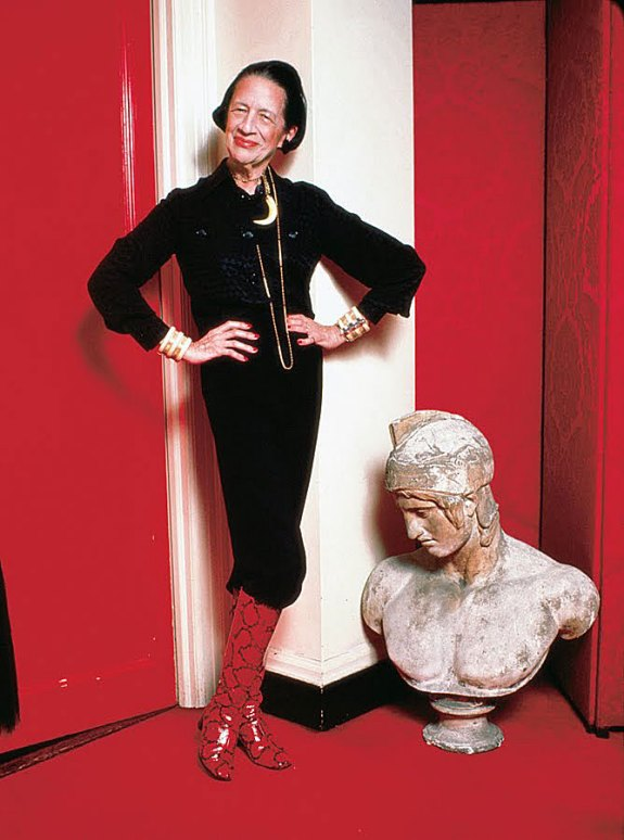 Diana Vreeland Red Boots | Agraria