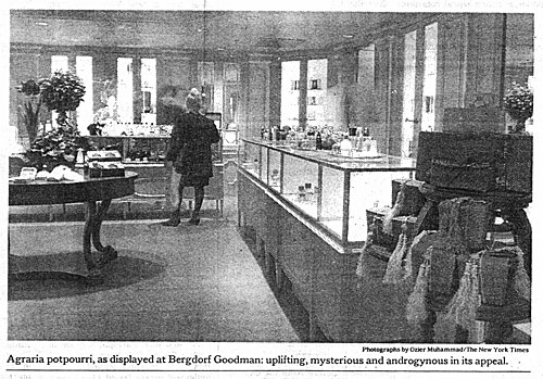 Bergdorf's, as covered by The New York Times.   AGRARIA