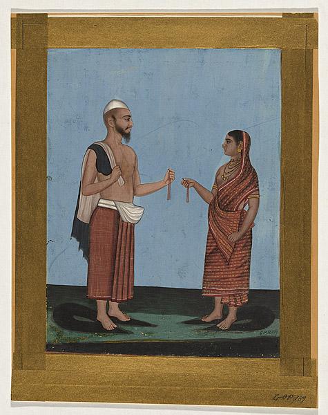 Muslim tasselmaker and his wife   AGRARIA